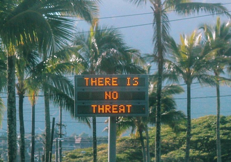 There is no threat